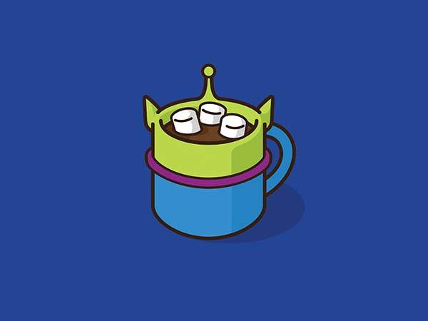 Pop Culture Coffee Mug Mashups - Toy Aliens