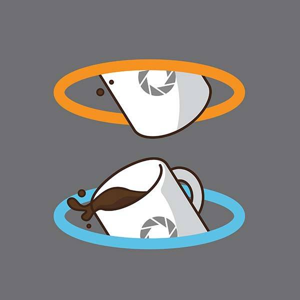 Pop Culture Coffee Mug Mashups - Portal