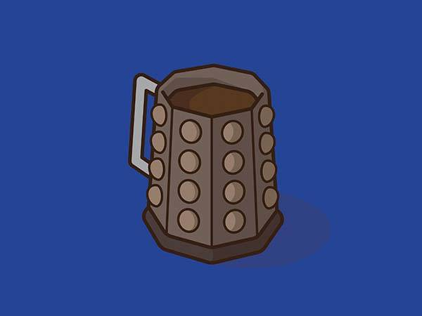 Pop Culture Coffee Mug Mashups - Dalek