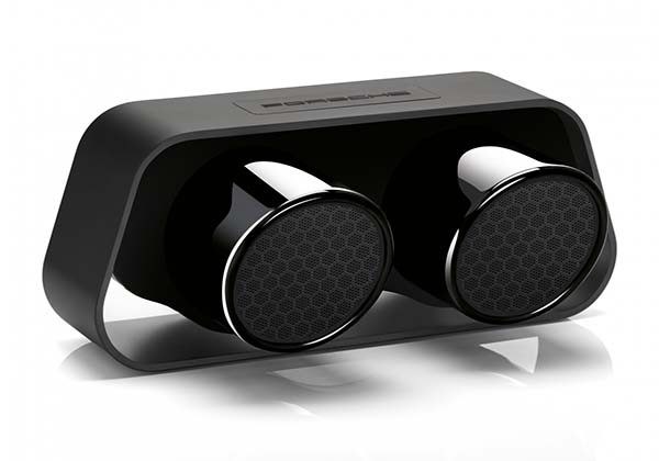 Porsche Bluetooth Speaker Built with Exhaust Pipes from 911 GT3