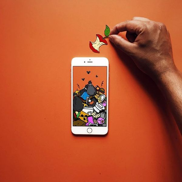 The creative mashups built with iphone and paper crafts for Paper mashing craft