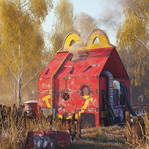 Post Apocalyptic 3D Pop Culture Sculptures Created by Flip Hodas - McDonald