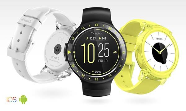 Ticwatch S and E Smartwatches with Fitness Tracker and GPS