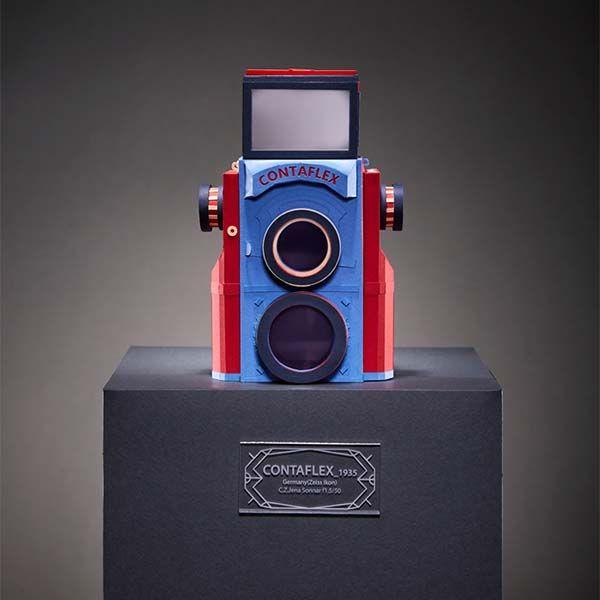 Vintage Camera Papercrafts - Contaflex