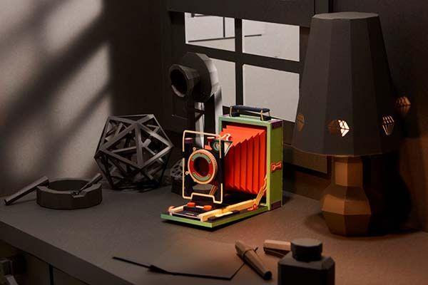 Vintage Camera Papercrafts - Tropen Adoro