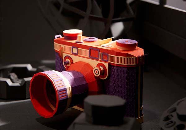 awesome vintage camera papercrafts by lee jihee gadgetsin