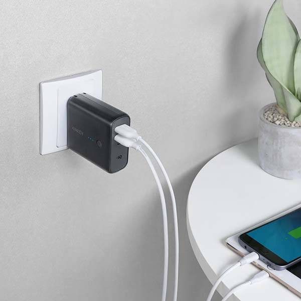Anker PowerCore Fusion 5000 USB Wall Charger with Power Bank
