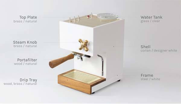 AnZa Corian and Concrete Espresso Machines