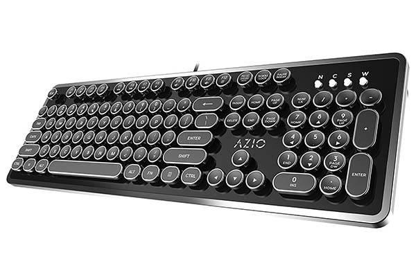 Azio MK Typewriter Retro Mechanical Keyboard