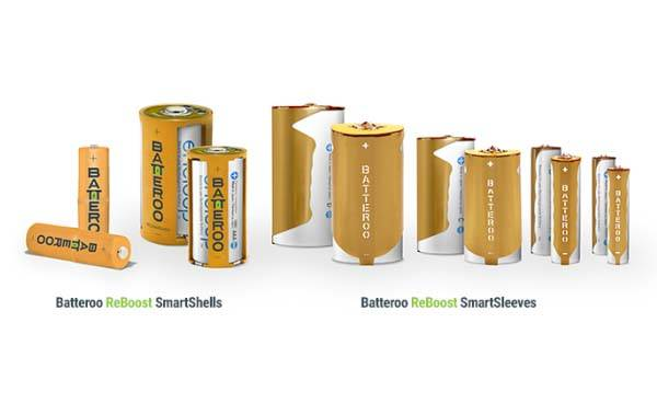 Batteroo ReBoost Rechargeable Battery Sleeves