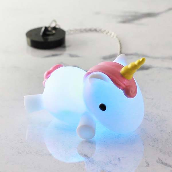 Color Changing LED Unicorn Bath Plug