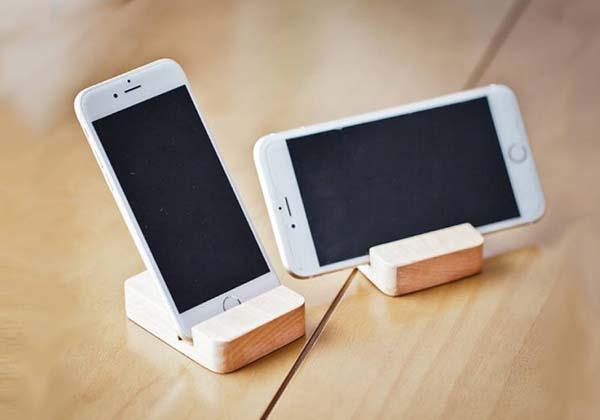 Handmade Customizable Wooden Phone Stand