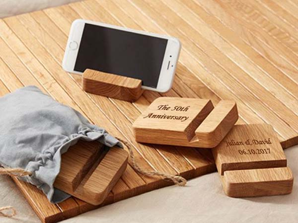Handmade Customizable Wooden Phone Stand