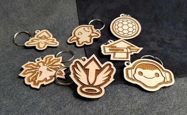 Handmade Overwatch Wooden Keychains