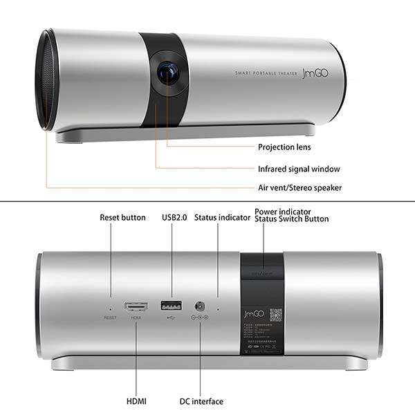 JmGO P2 Android Portable Smart Projector