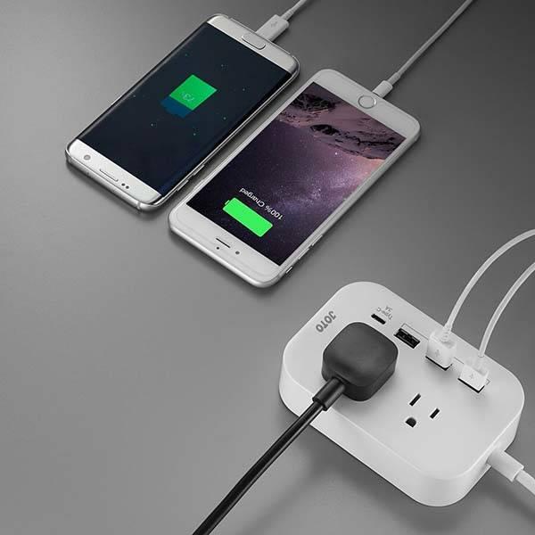 Joto 2 Compact Power Strip with USB-C Port