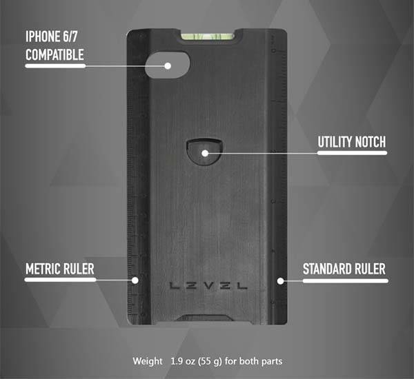 Level iPhone 7 Case with Optional Multi-Tools