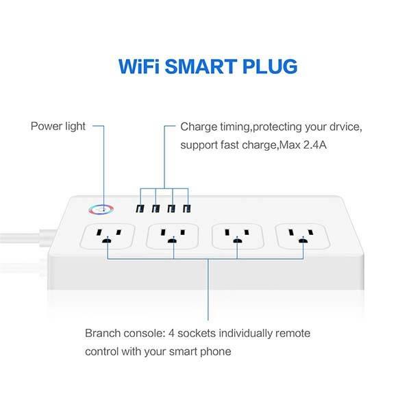 M.Way Smart Power Strip Supports Amazon Alexa