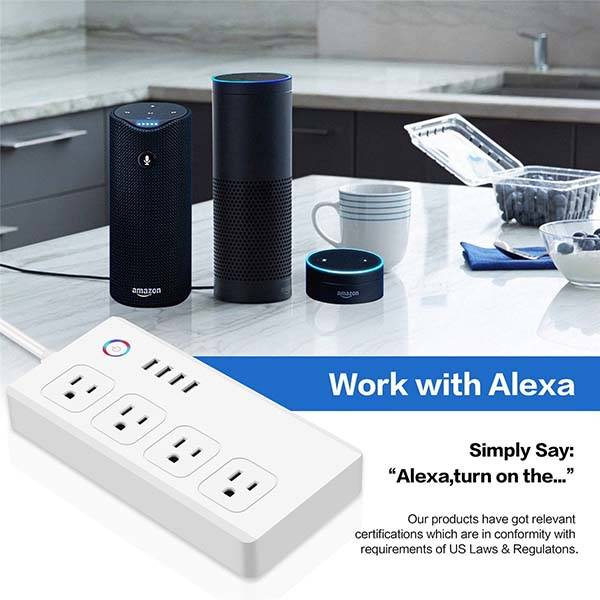 M.Way Smart Power Strip Supports Amazon Alexa