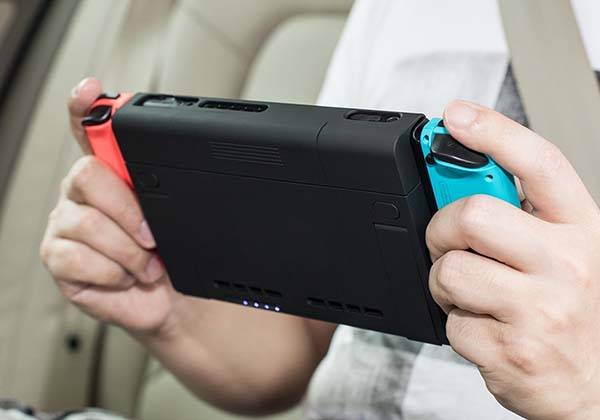 sports shoes 811f0 fc8c0 The Nintendo Switch Battery Case with Stand and Game Card Holder ...