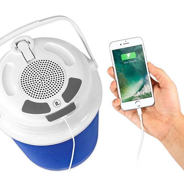 Portable Cooler with Bluetooth Speaker and Power Bank