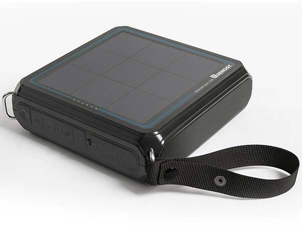 E.Tunes Portable Solar Bluetooth Speaker