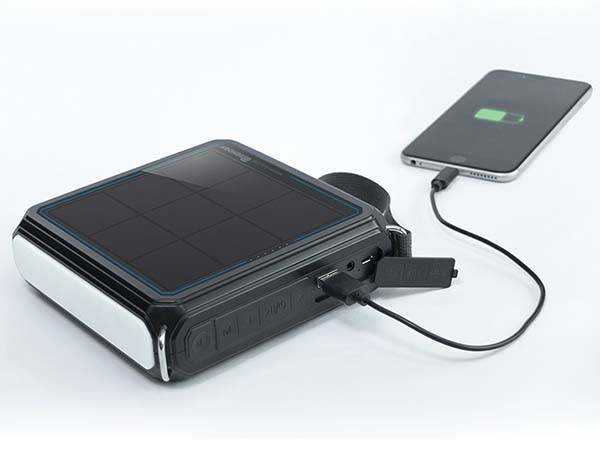 E.Tunes Portable Solar Bluetooth Speaker