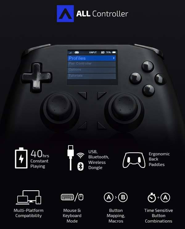 the all customizable and universal game controller