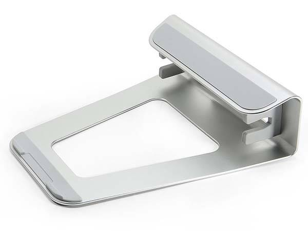 The Aluminum Laptop Stand Acts as Vertical Laptop Dock