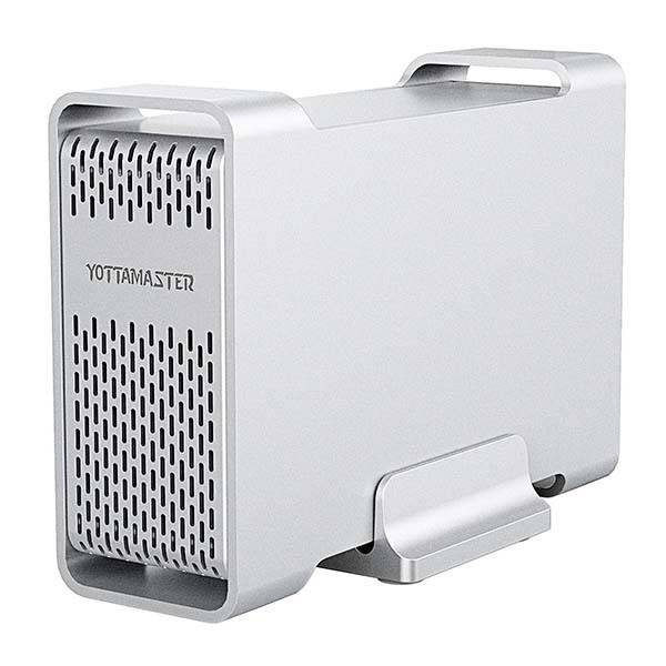 The Aluminum USB-C External Hard Drive RAID Enclosure