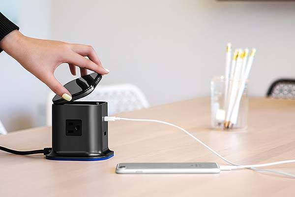 The USB Charging Station with AC Outlets and Detachable Power Bank