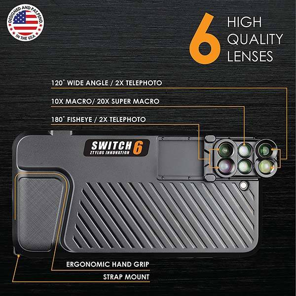 Ztylus Switch iPhone 7 Plus Case with 6-In-1 Lens Kit