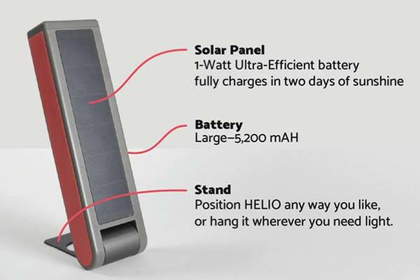 Helio Solar LED Light with Built-in Power Bank