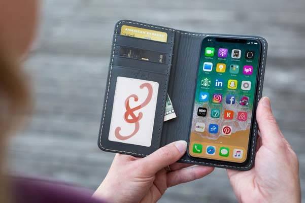 The Bella Fino iPhone X Leather Case
