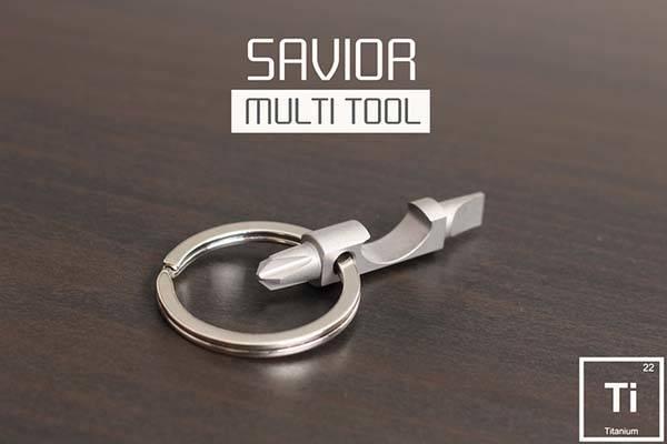 Savior Titanium Multitool Keyring