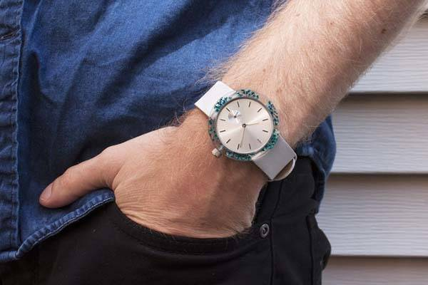 Botanist Unisex Watch with Natural Moss and Flowers