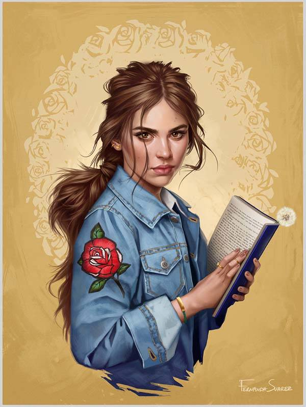 The Digital Posters Show Disney Princesses in Modern World - Belle