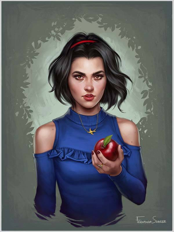 The Digital Posters Show Disney Princesses in Modern World - Snow White
