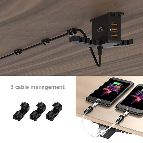 The Headphone Hanger with Charging Station and Cable Organizer