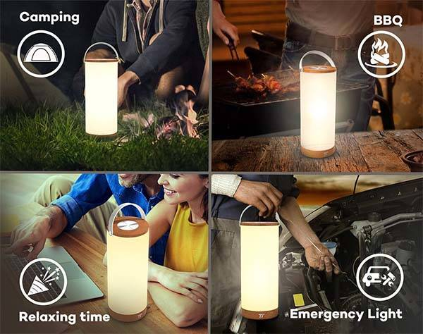 The Portable LED Lantern with Touch Control Panel and 4000mAh Battery