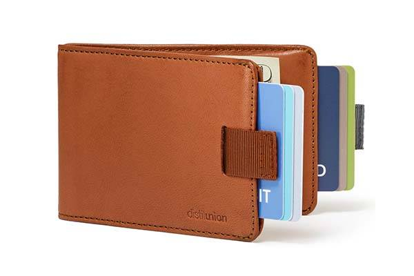 Wally Bifold Minimal Leather Wallet with FlexLock Pockets