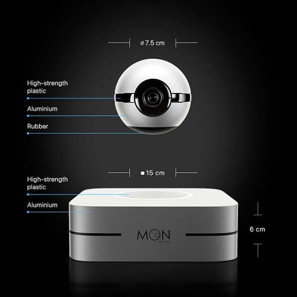 1 Ring Moon Levitating Smart Home Camera Gadgetsin