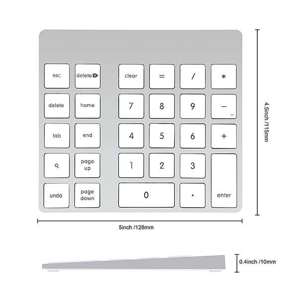 Cateck Aluminum Bluetooth Keypad for Apple Magic Keyboard