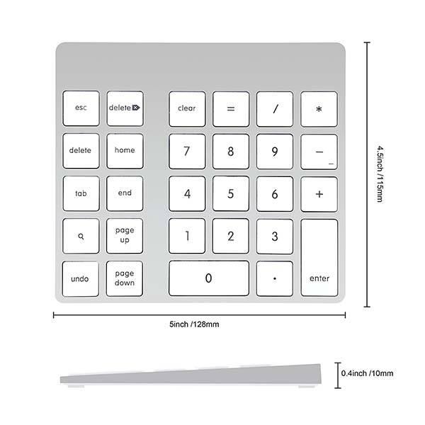Cateck Aluminum Bluetooth Keypad for Apple Magic Keyboard