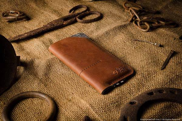 CrazyHorseCraft Handmade Leather iPhone X Case