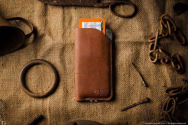 CrazyHorseCraft Handmade Leather iPhone X Case
