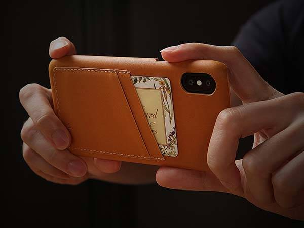 Elago Genuine Leather iPhone X Wallet Case