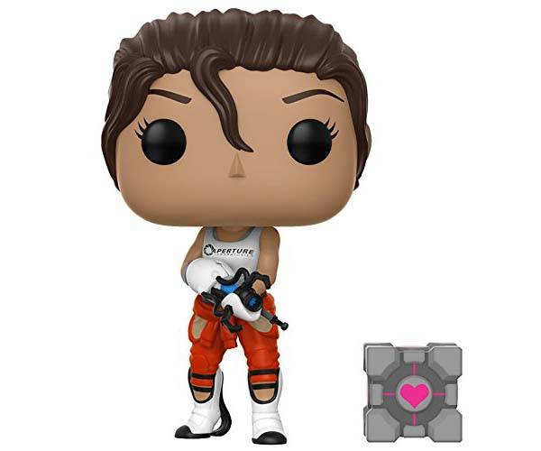 Funko Pop Portal Mini Figures - Chell with Companion Cube