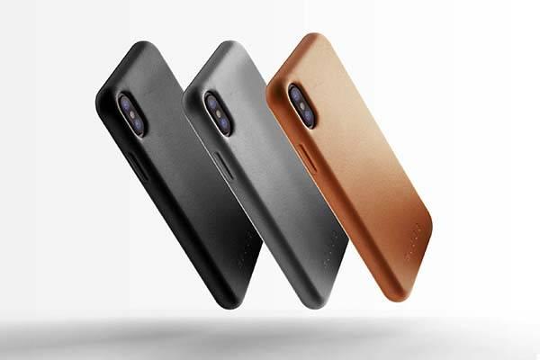 Mujjo Minimal iPhone X Leather Case