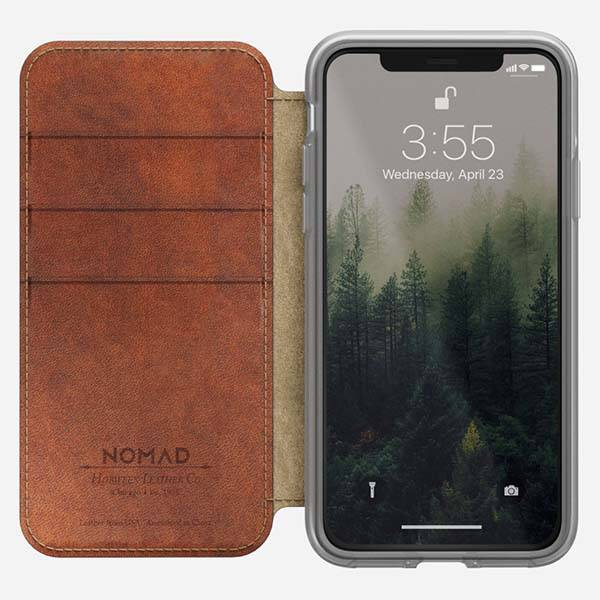 Nomad Clear Folio Leather iPhone X Wallet